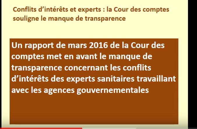 conflits d'intérêts Cour des comptes