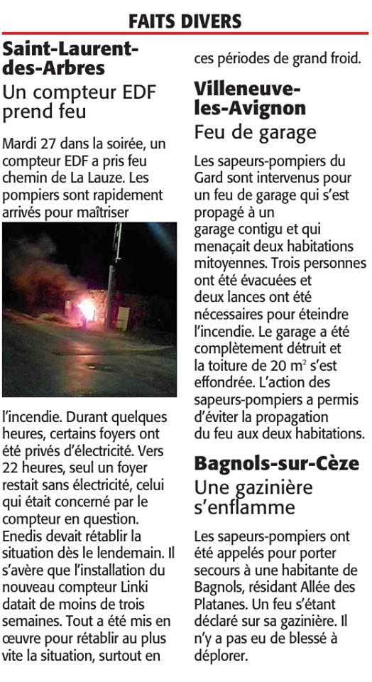 incendies bagnols sur cèze