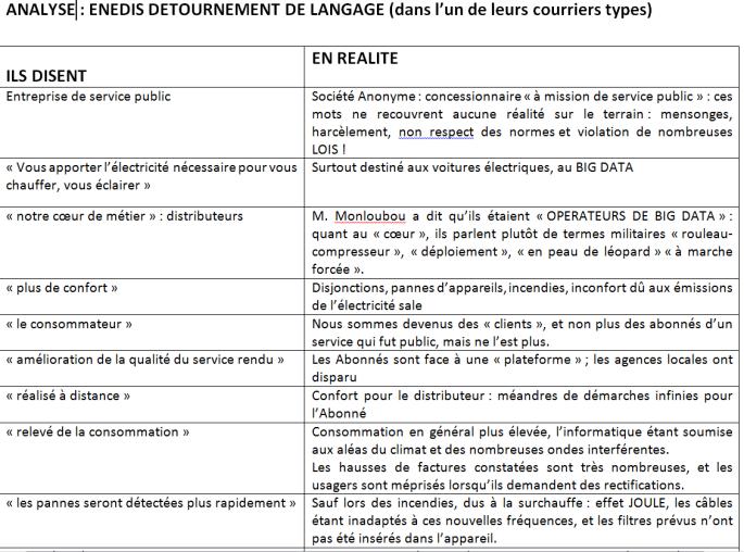 ANALYSE ENEDIS DETOURNEMENT DE LANGAGE 1